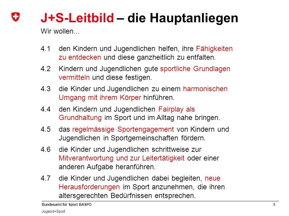 J+S-Leitbild – die Hauptanliegen