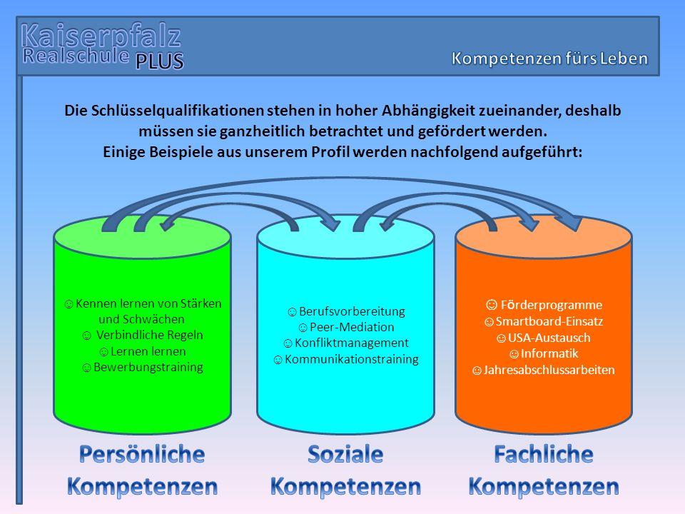 Kaiserpfalz Persönliche Kompetenzen Soziale Kompetenzen Fachliche
