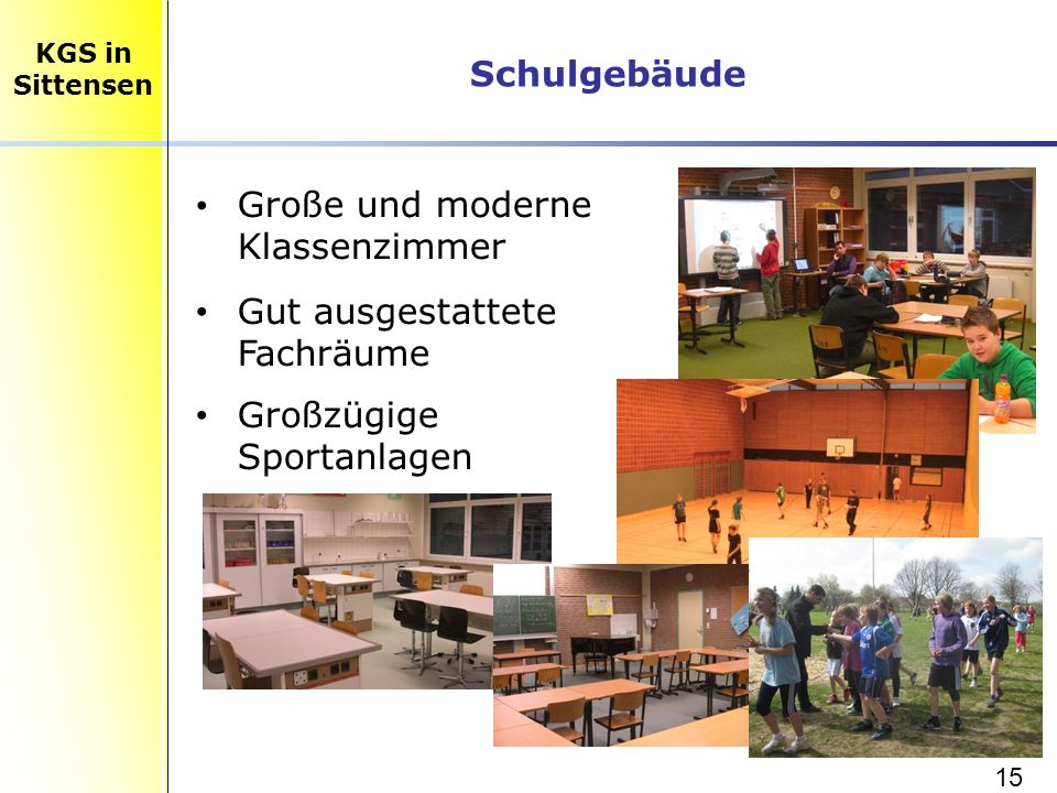 Große und moderne Klassenzimmer