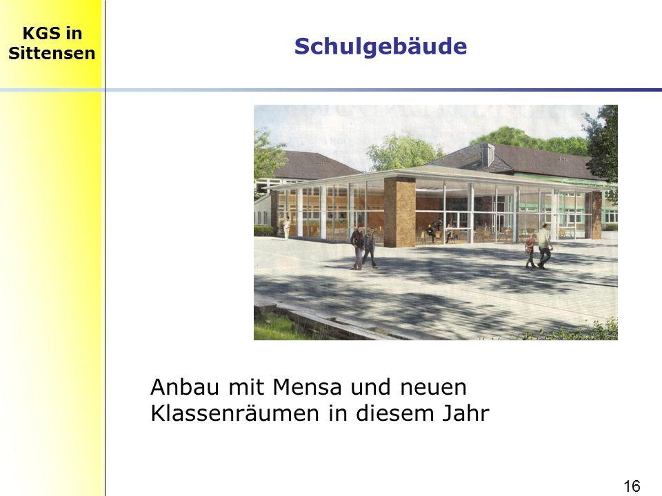 Anbau mit Mensa und neuen Klassenräumen in diesem Jahr