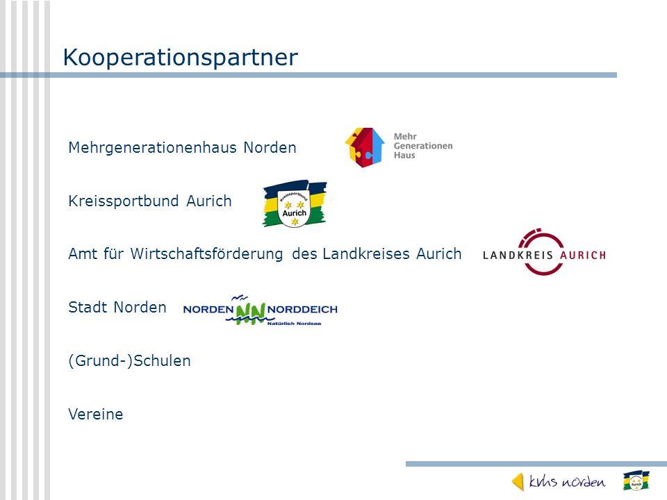 Kooperationspartner Mehrgenerationenhaus Norden Kreissportbund Aurich