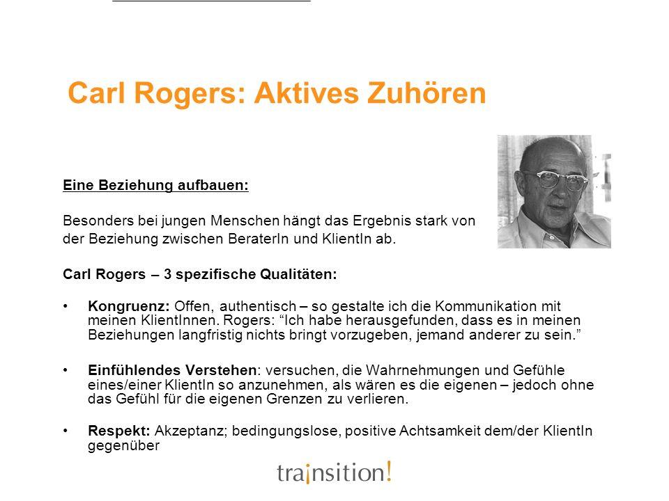 Carl Rogers: Aktives Zuhören