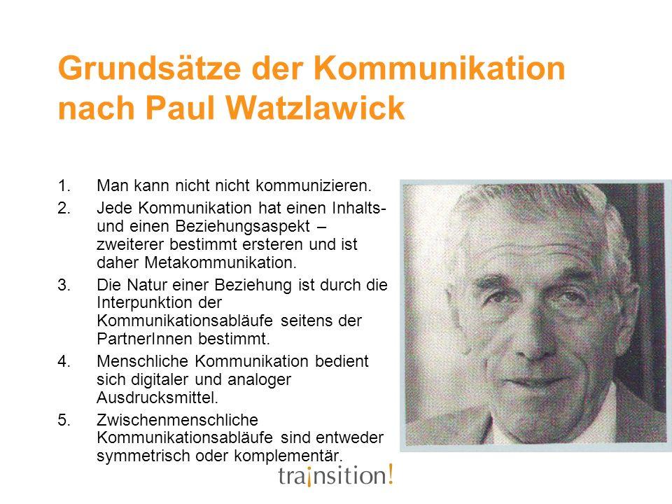 Grundsätze der Kommunikation nach Paul Watzlawick