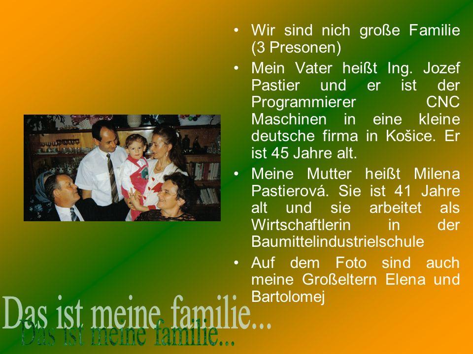 Das ist meine familie... Wir sind nich große Familie (3 Presonen)
