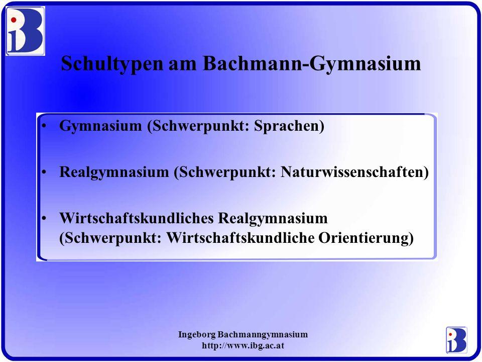 Schultypen am Bachmann-Gymnasium