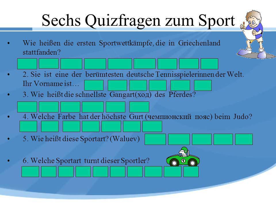 Sechs Quizfragen zum Sport