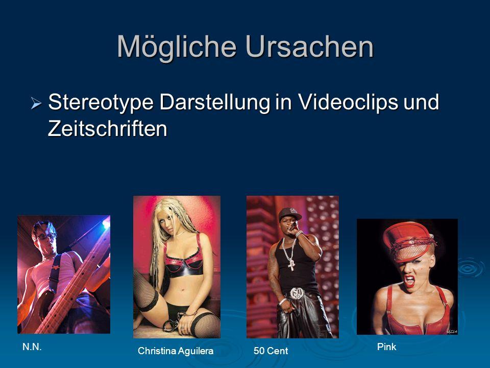 Mögliche Ursachen Stereotype Darstellung in Videoclips und Zeitschriften. N.N. Pink. Christina Aguilera.
