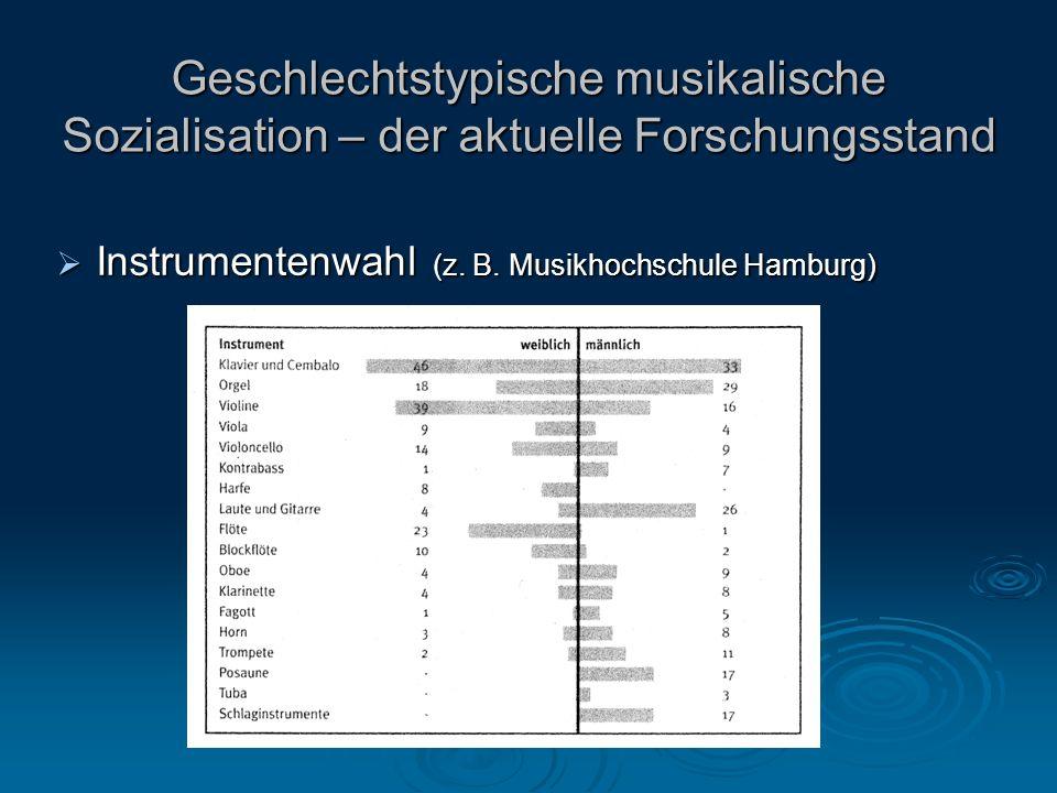 Geschlechtstypische musikalische Sozialisation – der aktuelle Forschungsstand