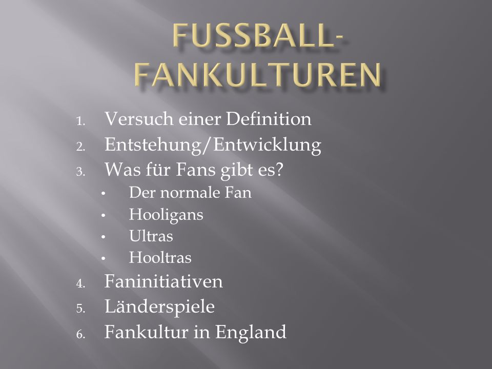 Fussball-Fankulturen