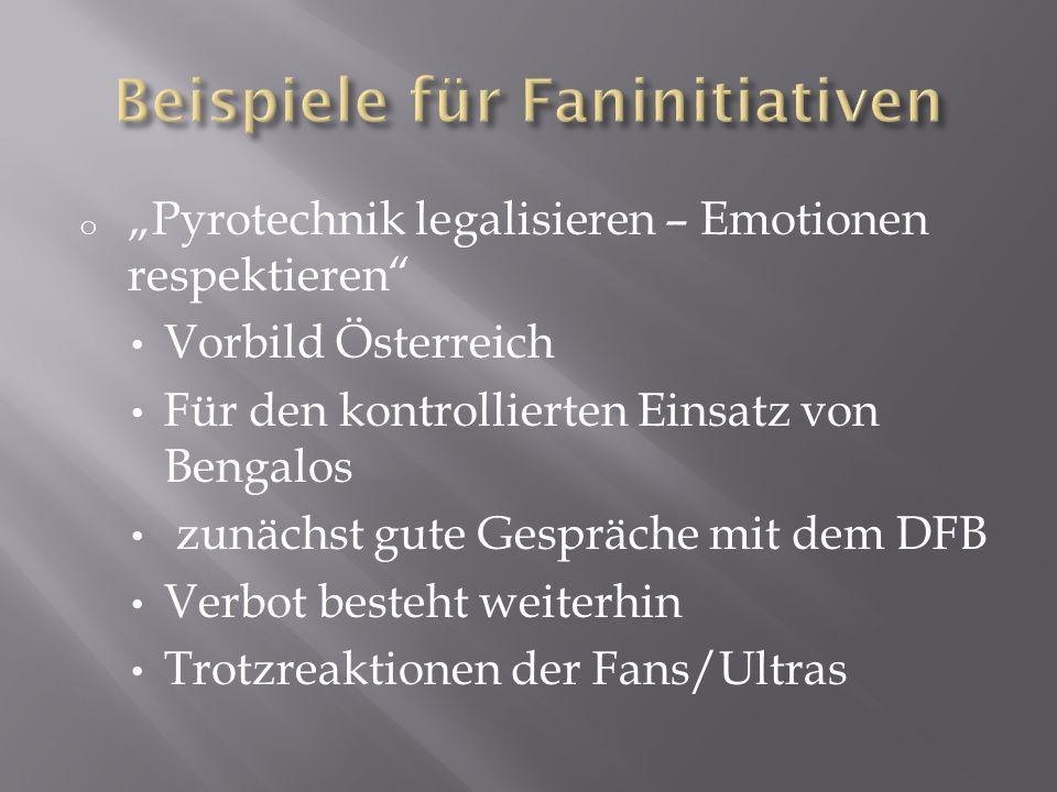 Beispiele für Faninitiativen