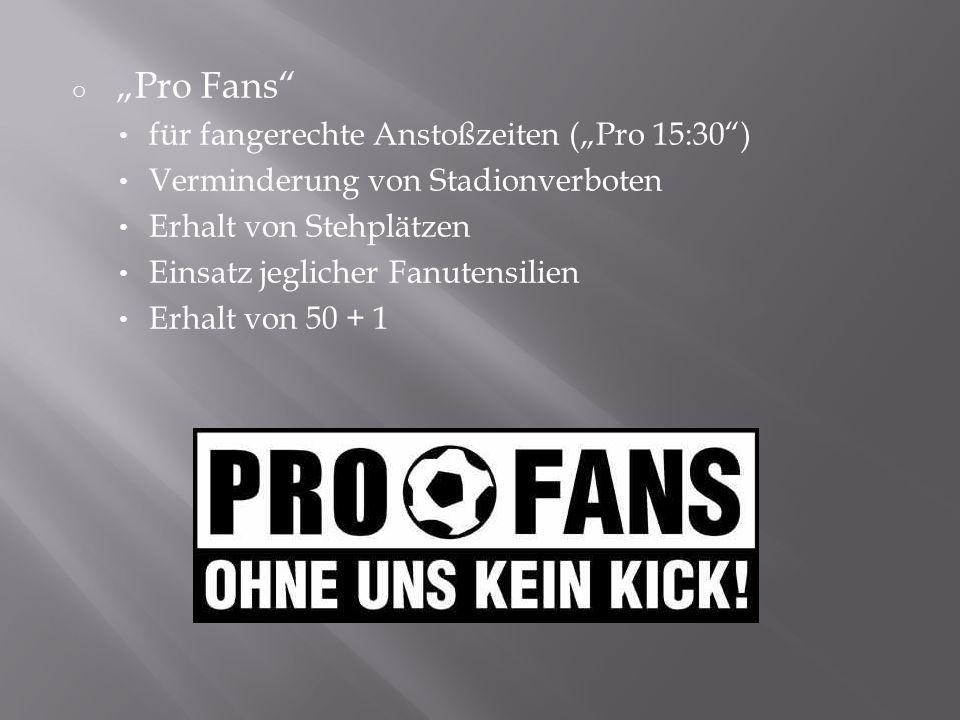 """""""Pro Fans für fangerechte Anstoßzeiten (""""Pro 15:30 )"""