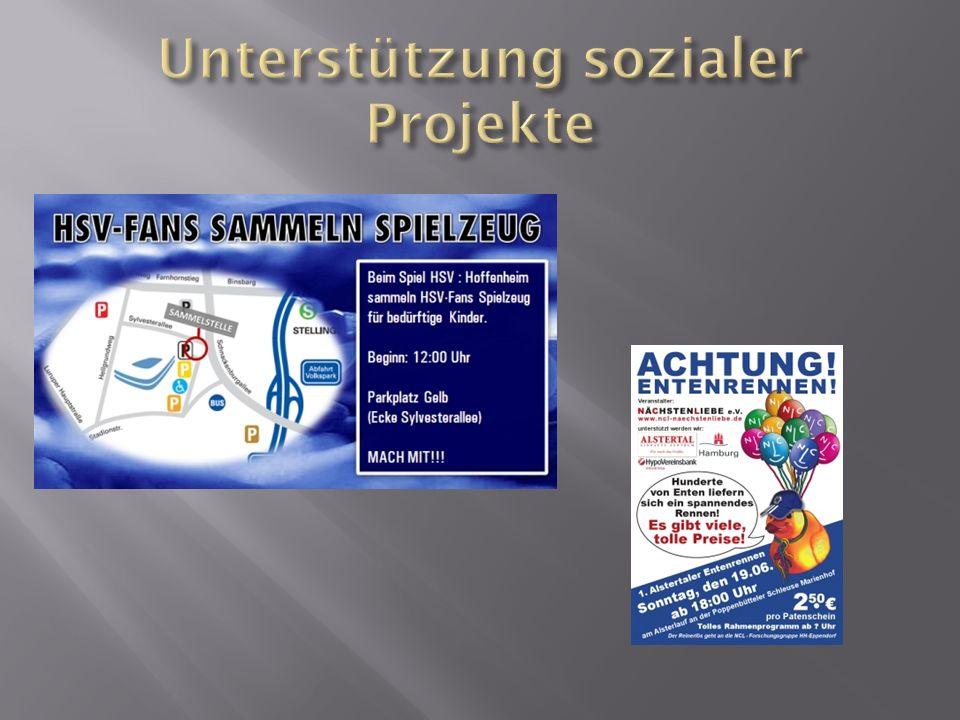 Unterstützung sozialer Projekte