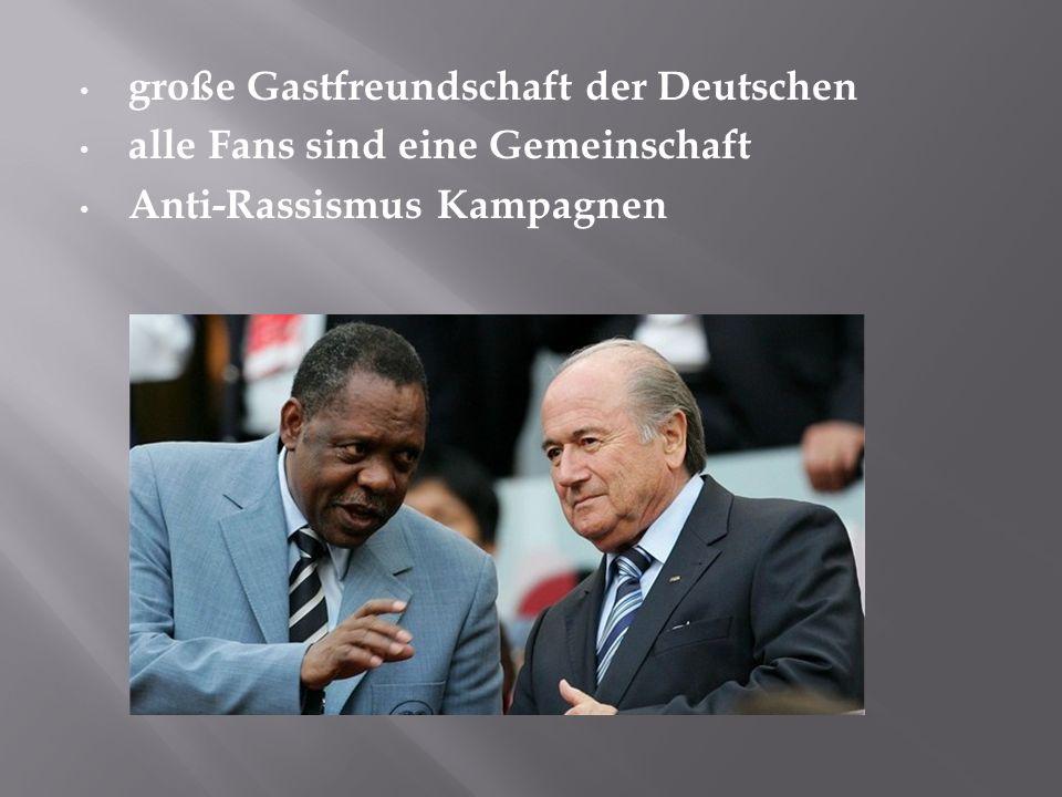 große Gastfreundschaft der Deutschen