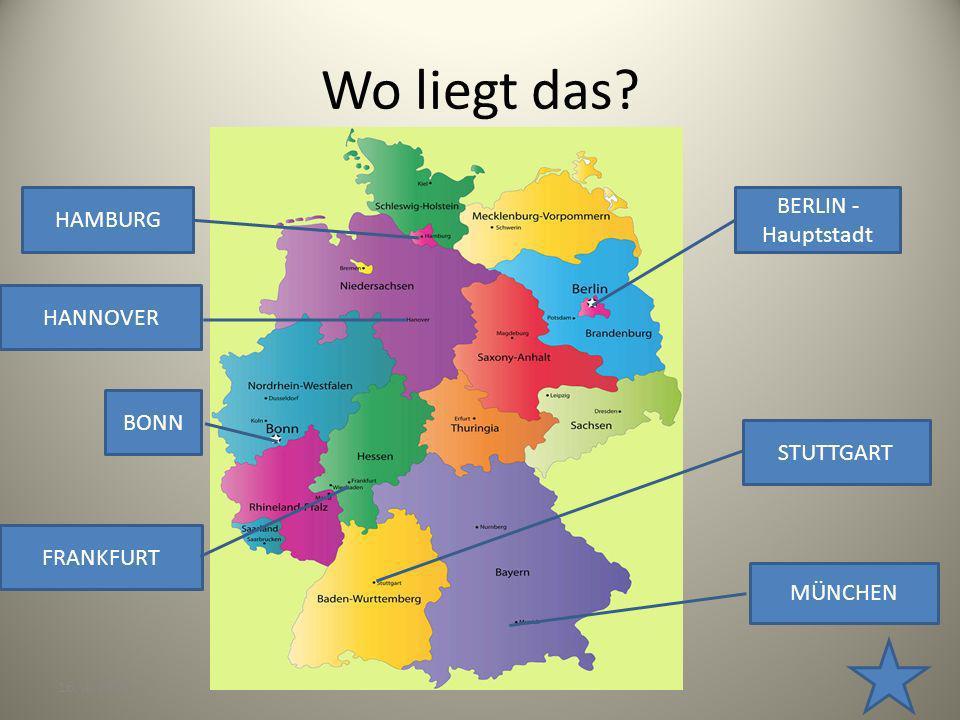 Wo liegt das BERLIN - Hauptstadt HAMBURG HANNOVER BONN STUTTGART