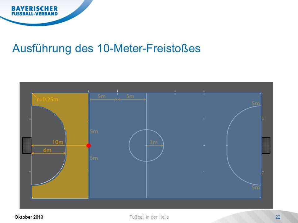Ausführung des 10-Meter-Freistoßes