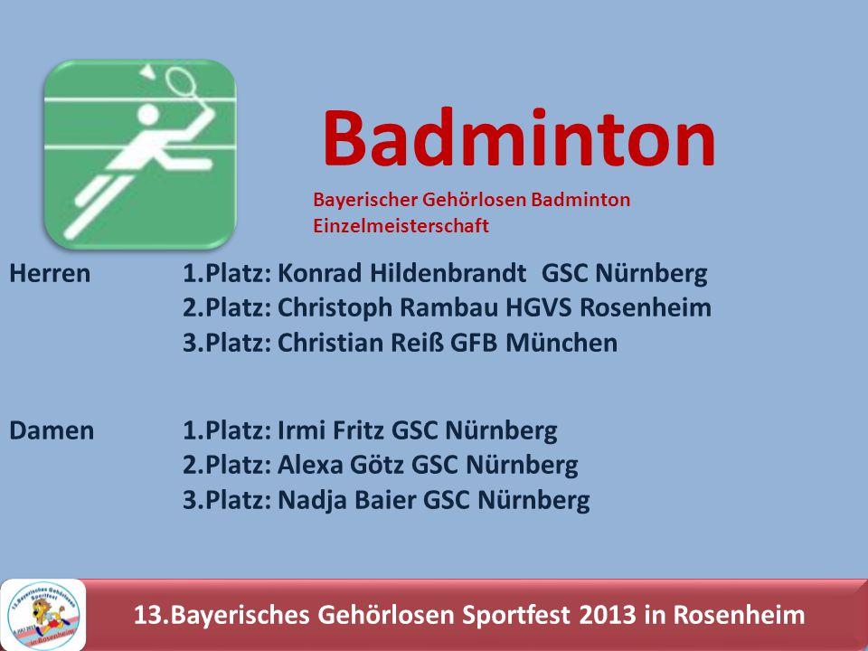 13.Bayerisches Gehörlosen Sportfest 2013 in Rosenheim