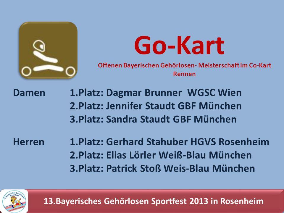 Go-Kart Damen 1.Platz: Dagmar Brunner WGSC Wien