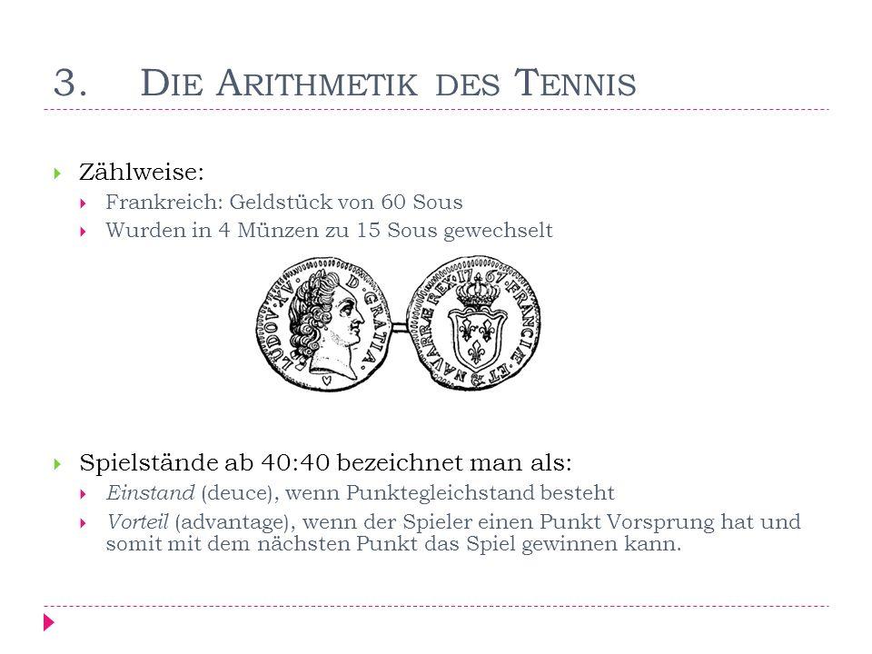 3. Die Arithmetik des Tennis