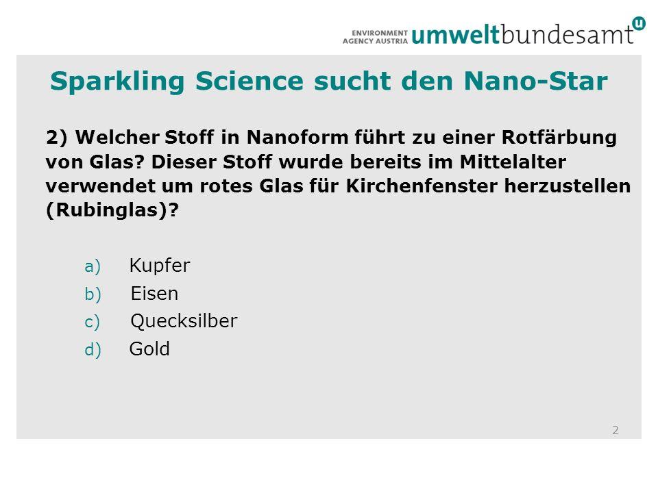 Sparkling Science sucht den Nano-Star