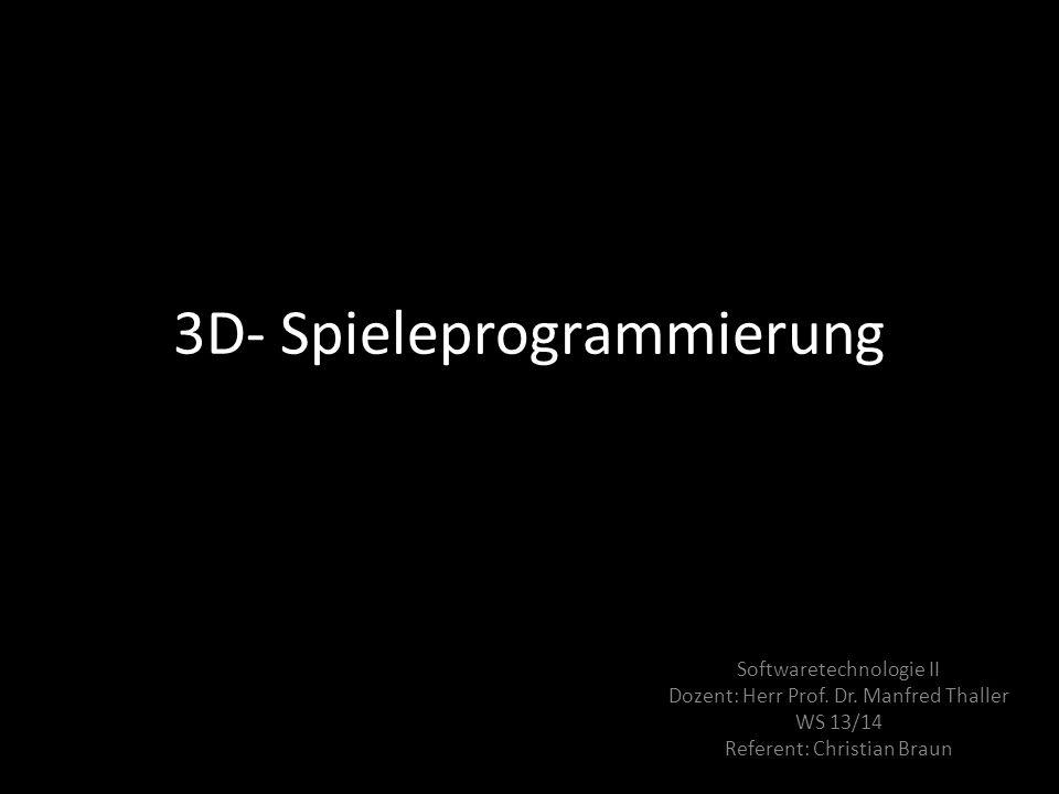 3D- Spieleprogrammierung
