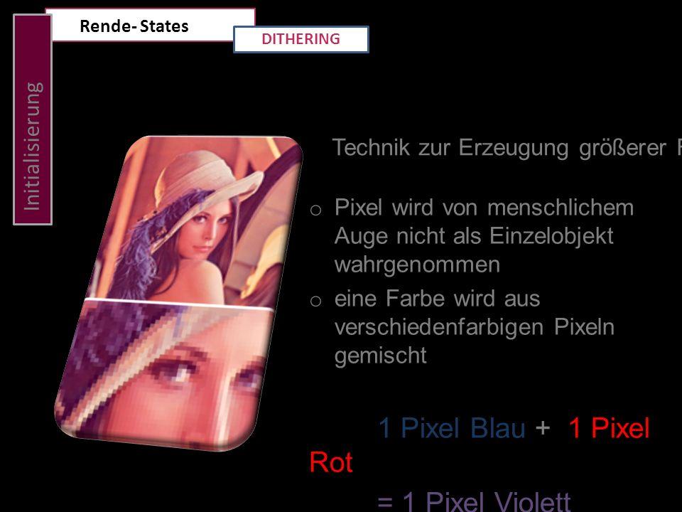 = 1 Pixel Violett Initialisierung