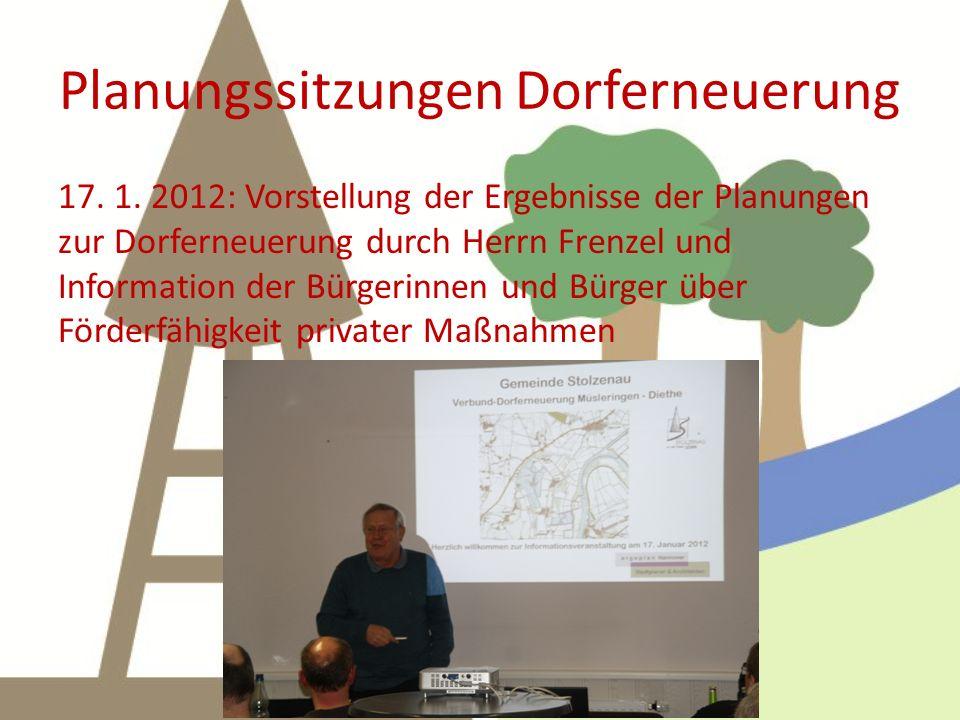Planungssitzungen Dorferneuerung