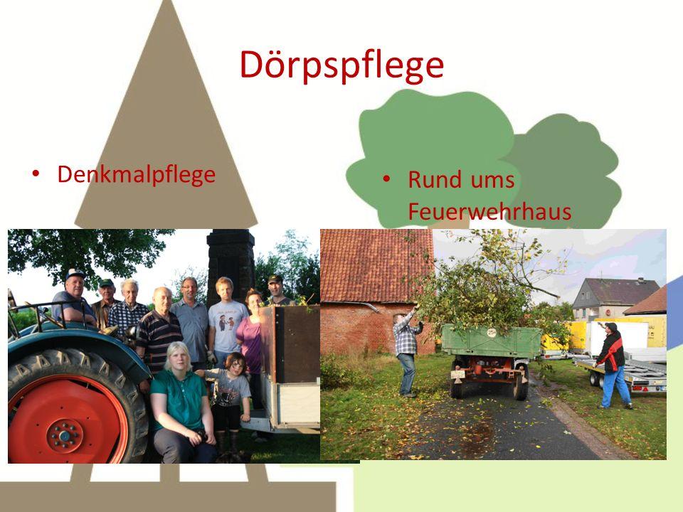 Dörpspflege Denkmalpflege Rund ums Feuerwehrhaus