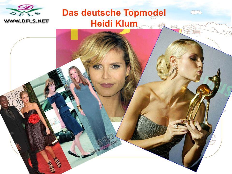 Das deutsche Topmodel Heidi Klum