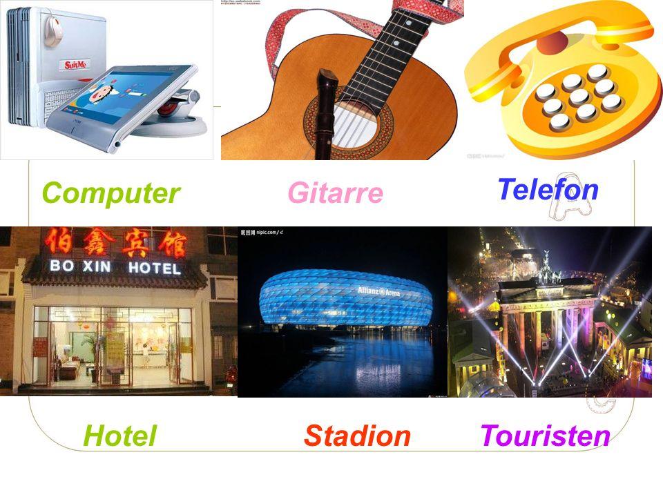 Computer Gitarre Telefon Hotel Stadion Touristen