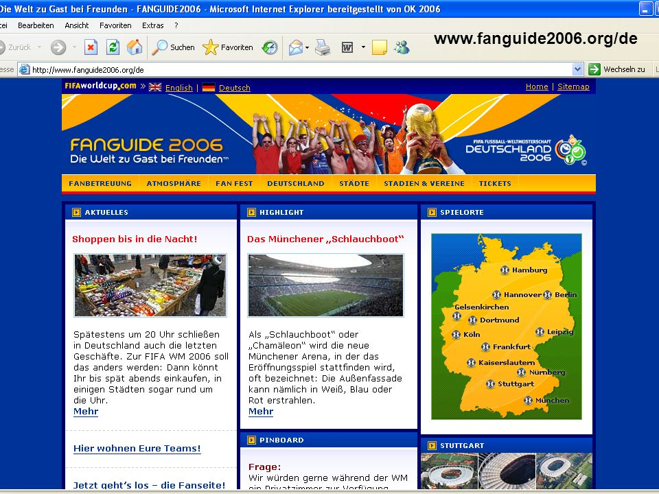 www.fanguide2006.org/de KOS, Volker Goll Kos.fanprojekte@dsj.de