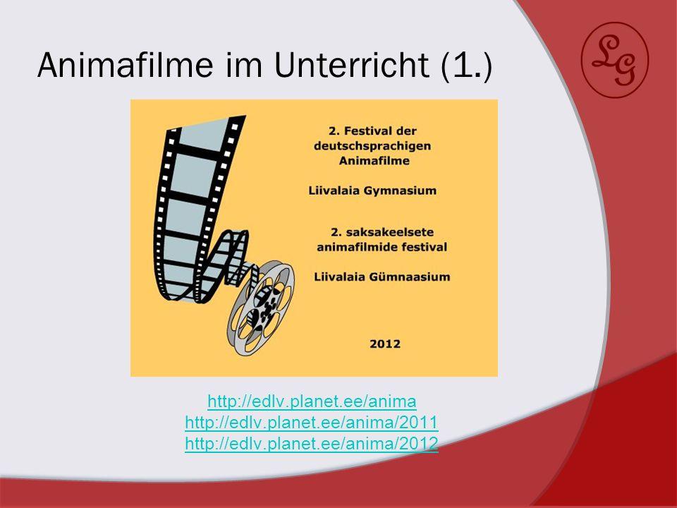 Animafilme im Unterricht (1.)
