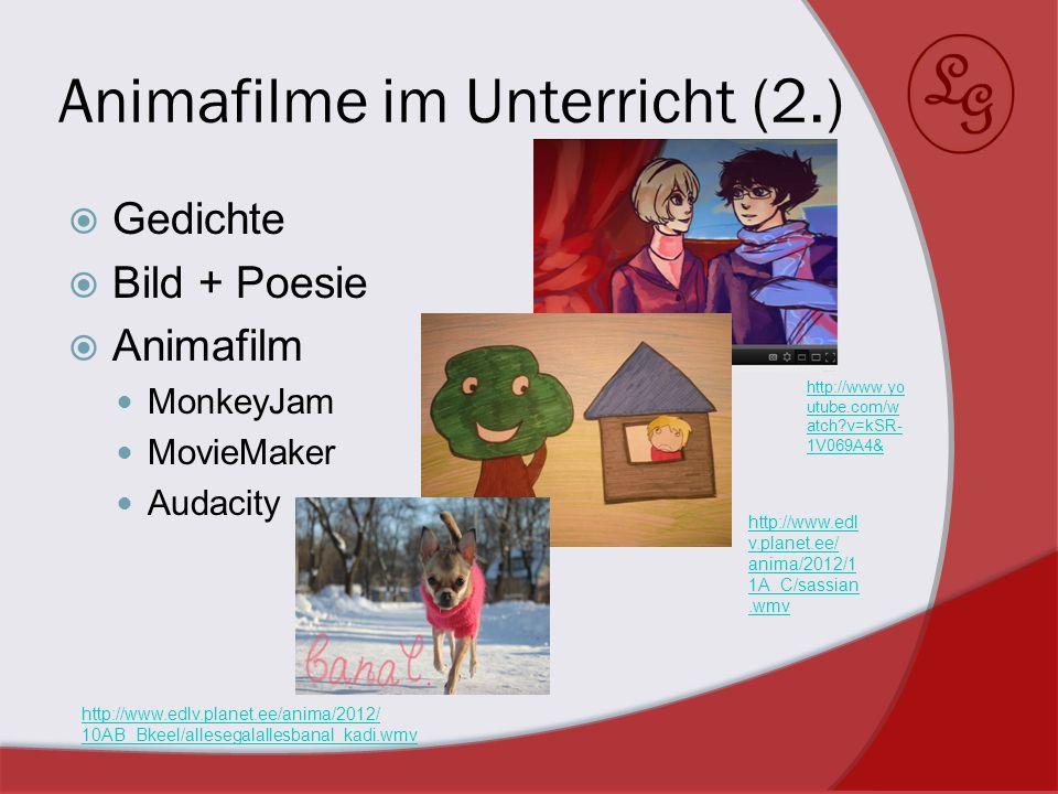 Animafilme im Unterricht (2.)