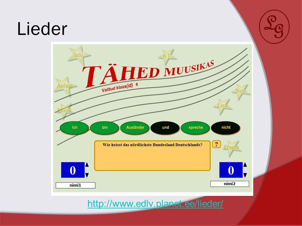 Lieder http://www.edlv.planet.ee/lieder/