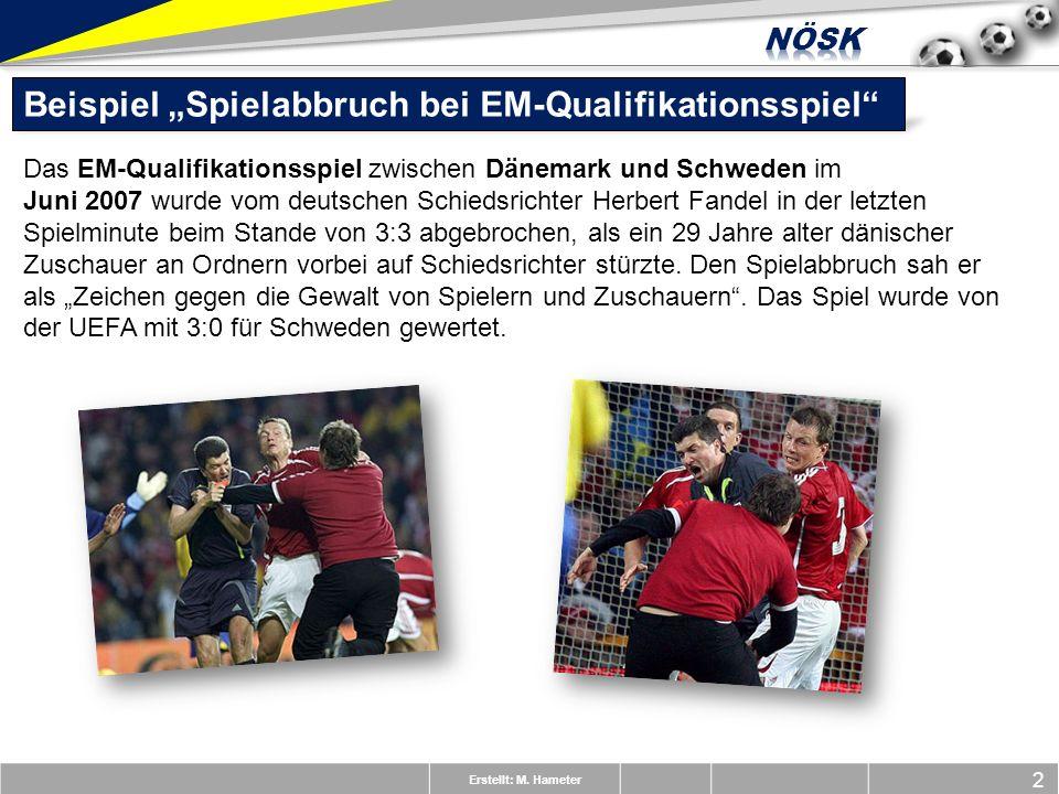 """Beispiel """"Spielabbruch bei EM-Qualifikationsspiel"""