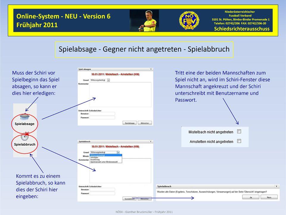 Fußball - Online Ein eigenes Fenster öffnet sich in dem die notwendigen Eintragungen und Angaben gemacht werden können.