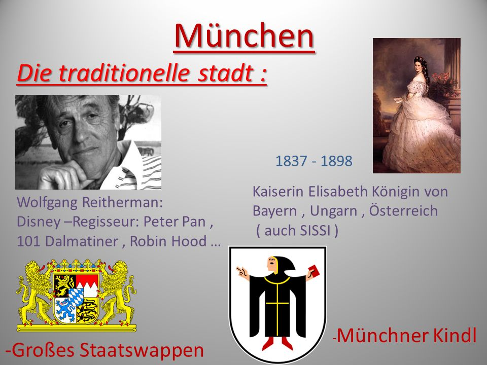 München Die traditionelle stadt : -Großes Staatswappen 1837 - 1898