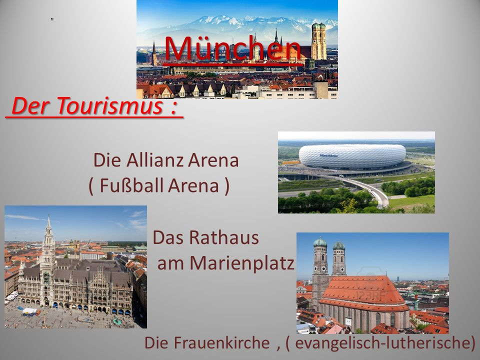 München Der Tourismus : Die Allianz Arena ( Fußball Arena )