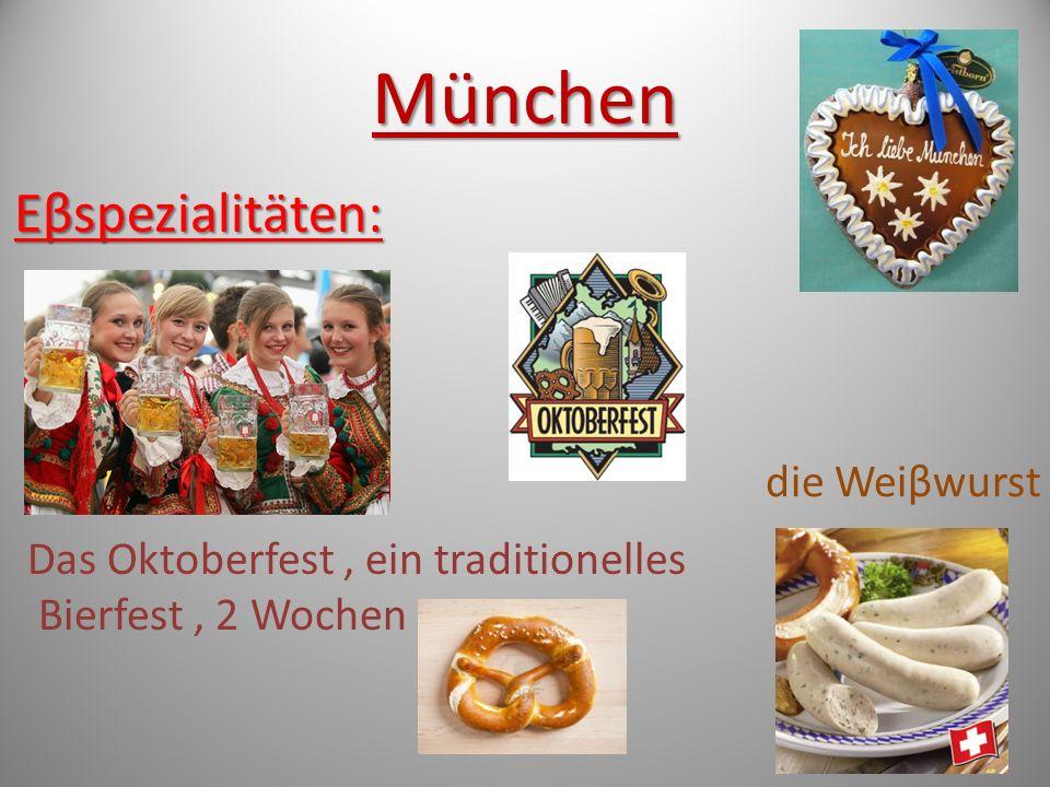 München Eβspezialitäten: die Weiβwurst