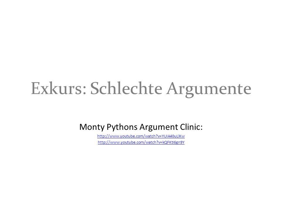 Exkurs: Schlechte Argumente