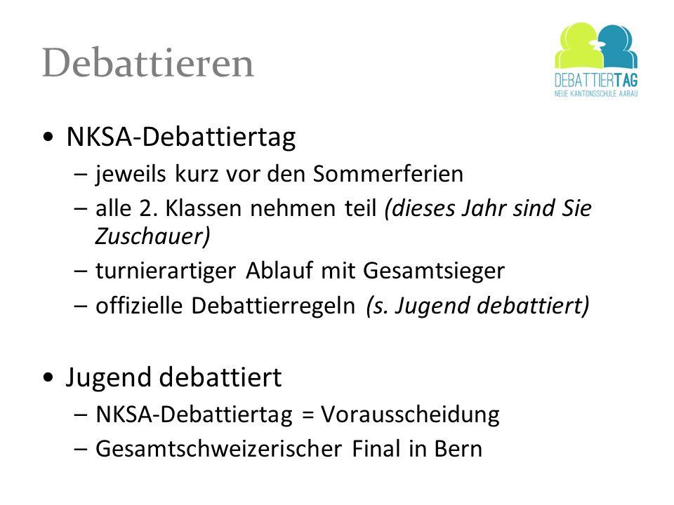 Debattieren NKSA-Debattiertag Jugend debattiert