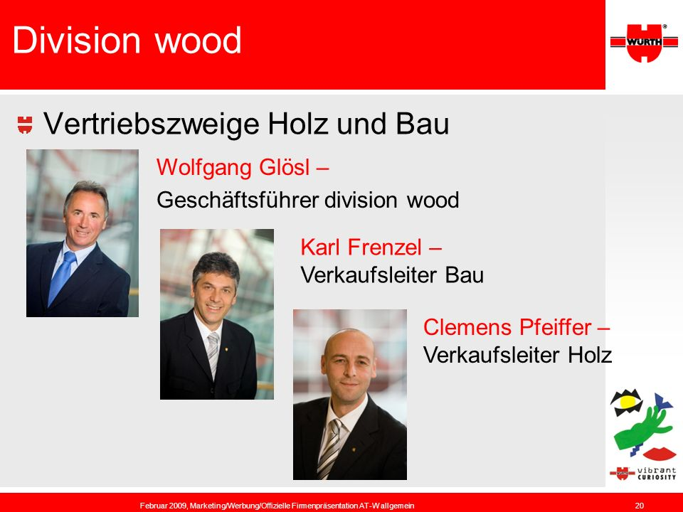 Division wood Vertriebszweige Holz und Bau Wolfgang Glösl –