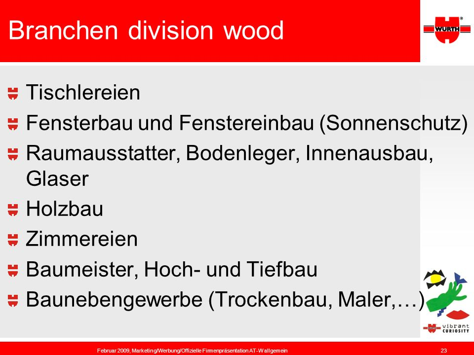 Branchen division wood