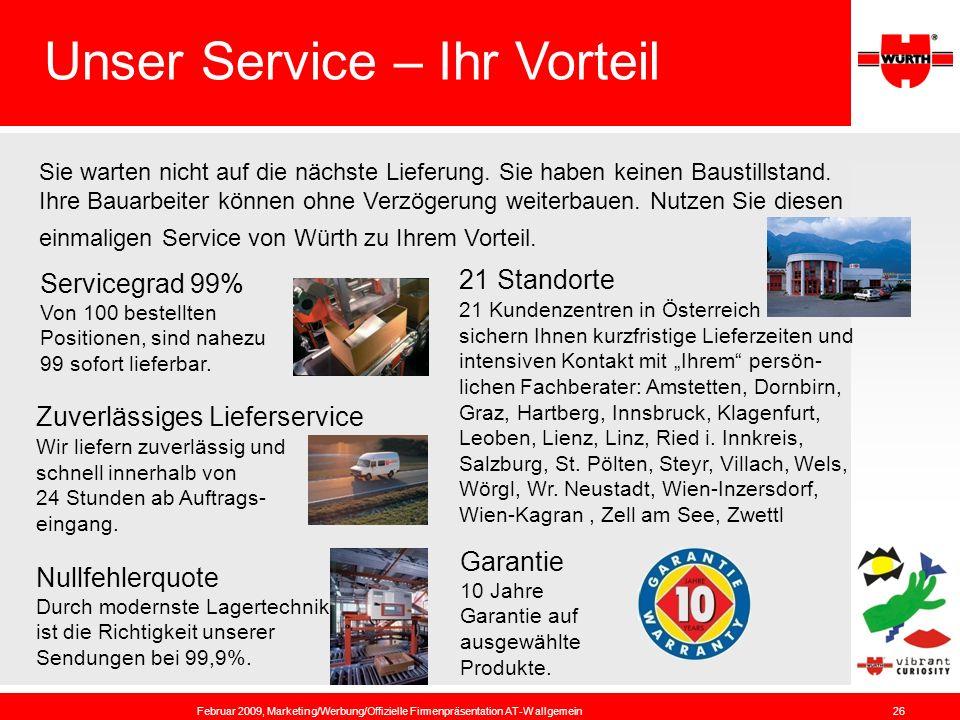 Unser Service – Ihr Vorteil