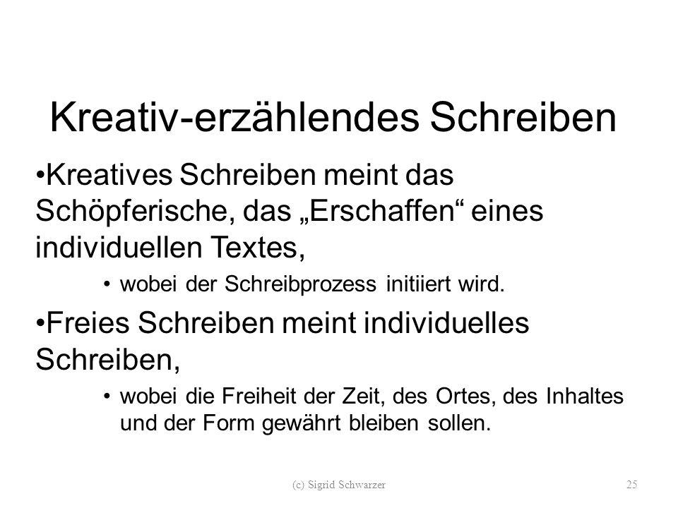Kreativ-erzählendes Schreiben