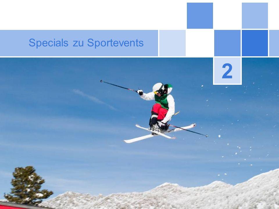 Specials zu Sportevents
