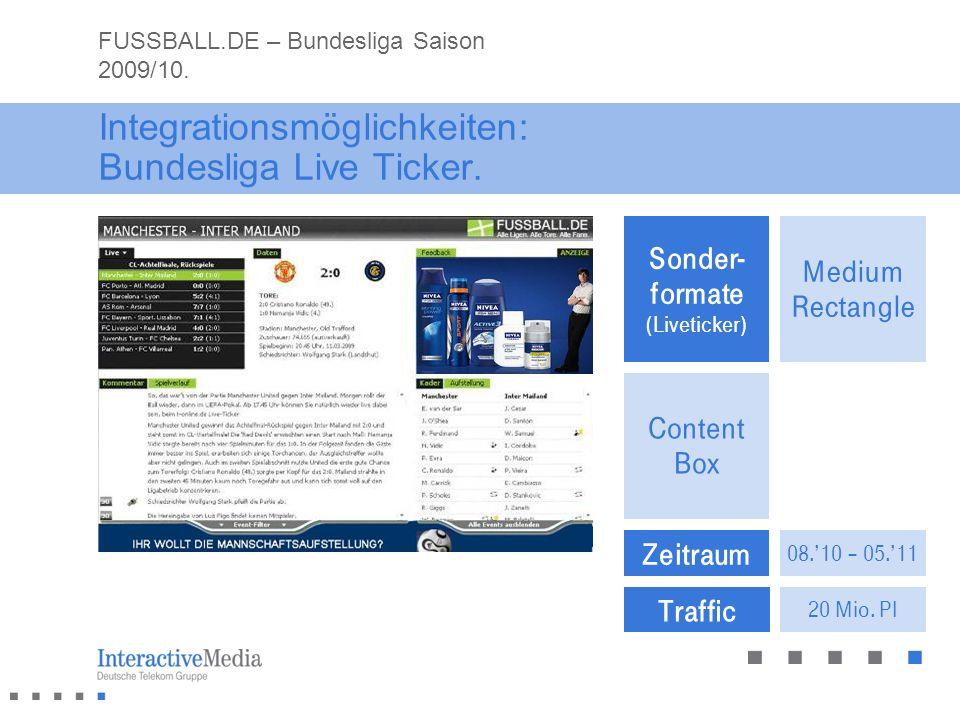 Integrationsmöglichkeiten: Bundesliga Live Ticker.
