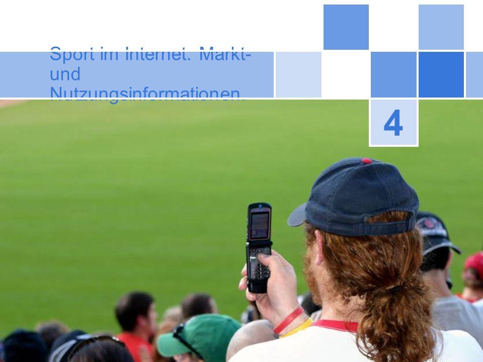 Sport im Internet. Markt- und Nutzungsinformationen.