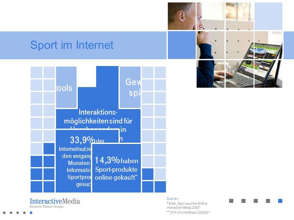 32% der Internetnutzer in Deutschland besuchen regelmäßig Sportseiten*
