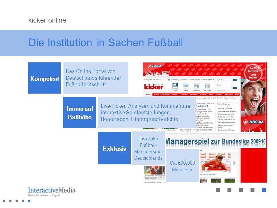 Die Institution in Sachen Fußball