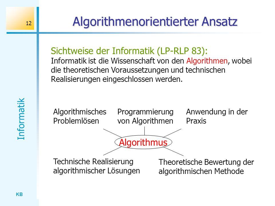 Algorithmenorientierter Ansatz